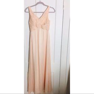 BHLDN peach gown xs Anthropologie new